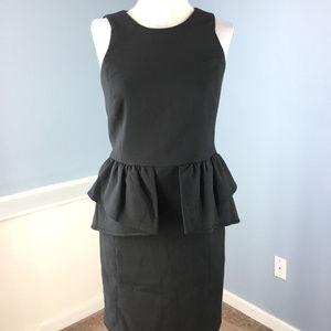 Michael Kors S 4 Black Sheath Peplum Dress Career